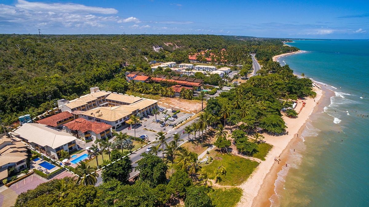 Foto aérea do hotel Porto Calem